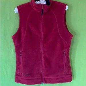 Columbia fleece zip front vest